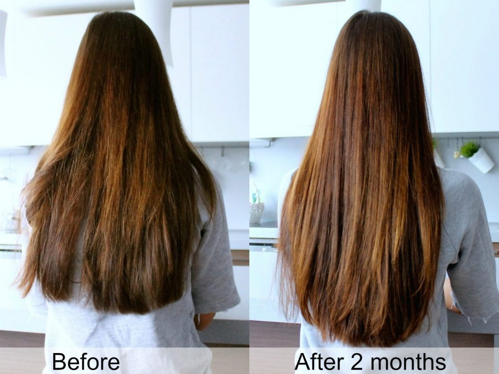 sugar bear hair before and after 3 month