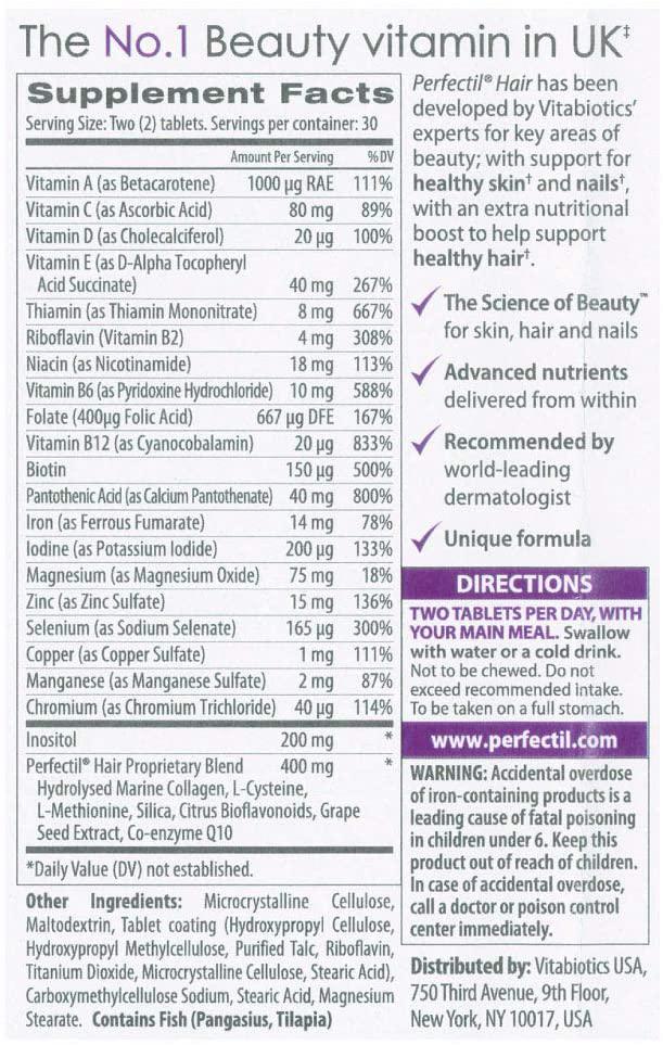 Perfectil Plus Ingredients